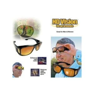 Vision See Clear At Night Driving With HD Vision Wrap-Around Eye Glass
