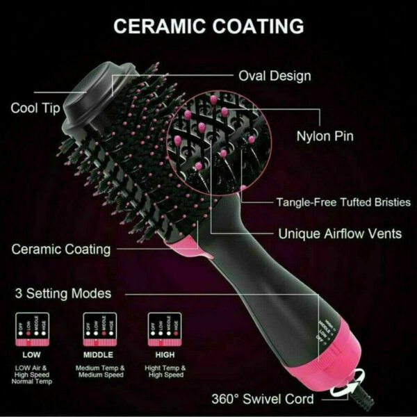Portable Quality Hair Dryer, Styler And Volumizer